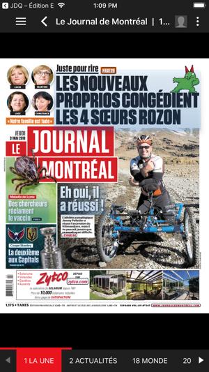 actualité journal de montreal