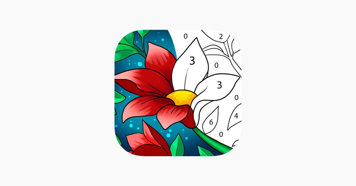 Paint By Number Coloring Game On The App Store