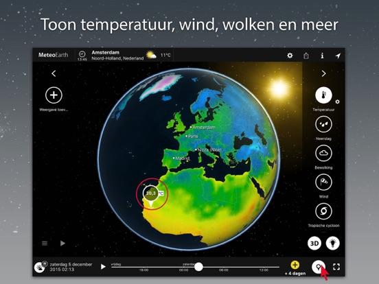 MeteoEarth iPad app afbeelding 1