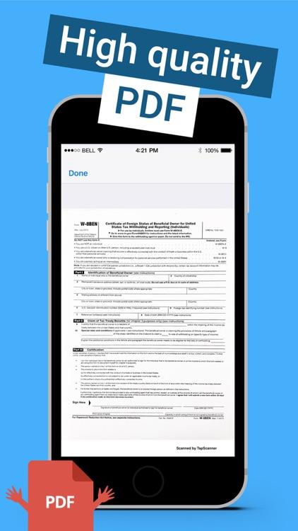TapScanner PDF Camera scanner screenshot-3