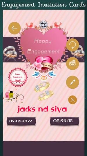 Engagement Invitation Cards HD Im App Store