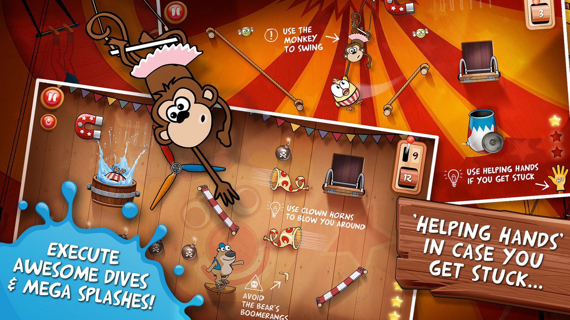 Screenshot do app Drop The Chicken 2 The Circus