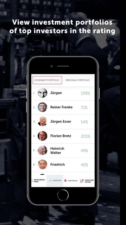 Dominant investors: Stocks screenshot-5
