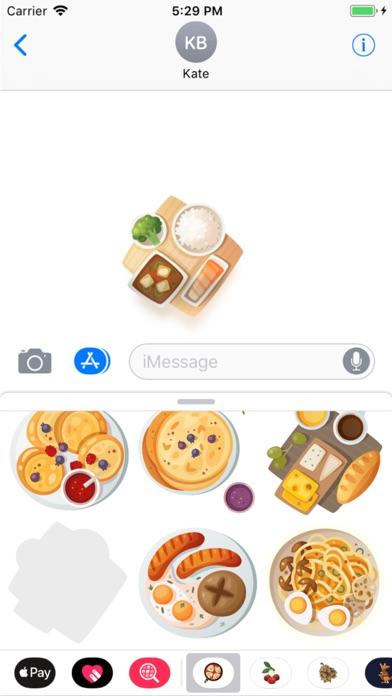 Breakfast Stickers Pro Скриншоты5