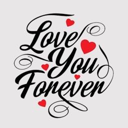 Love Typography Stickers