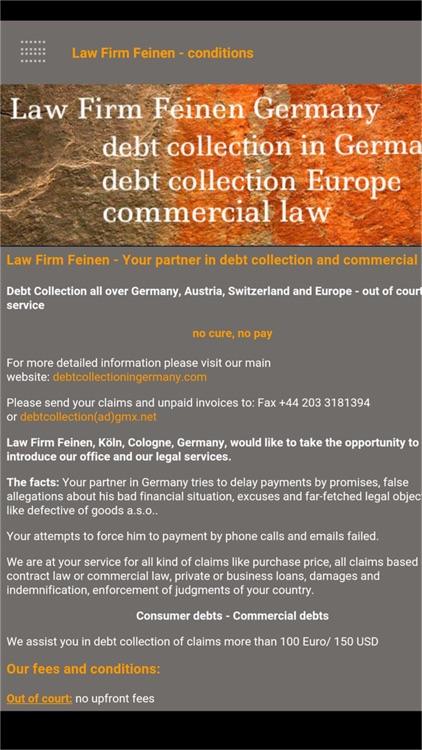 Debt Collector Deutsch
