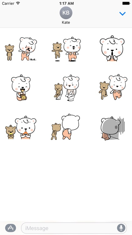 Animated White Bear And Teddy