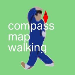 compass map walking