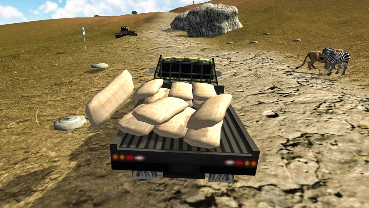 Army Cargo Truck Transporter
