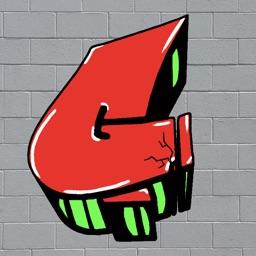 GRAFFITI 3D LETTERS CRACKED