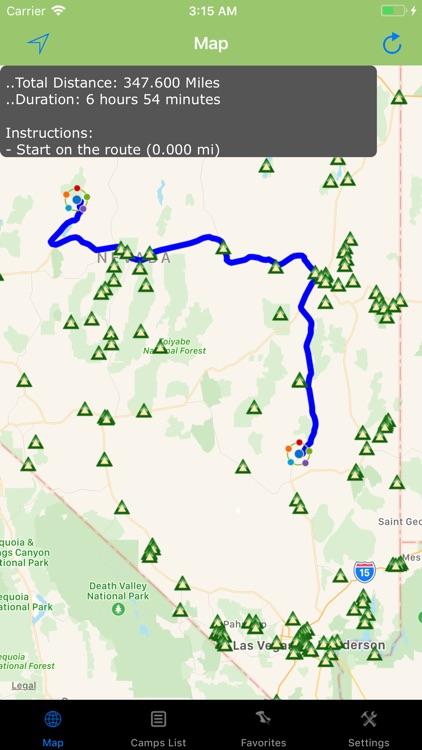 Nevada – Camping & RV spots