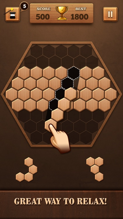 Wooden Hexagon Fit: Hexa Block screenshot-0