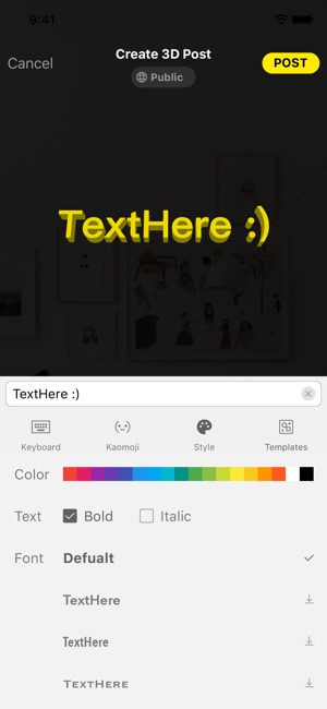 TextHere – AR posts everywhere Screenshot