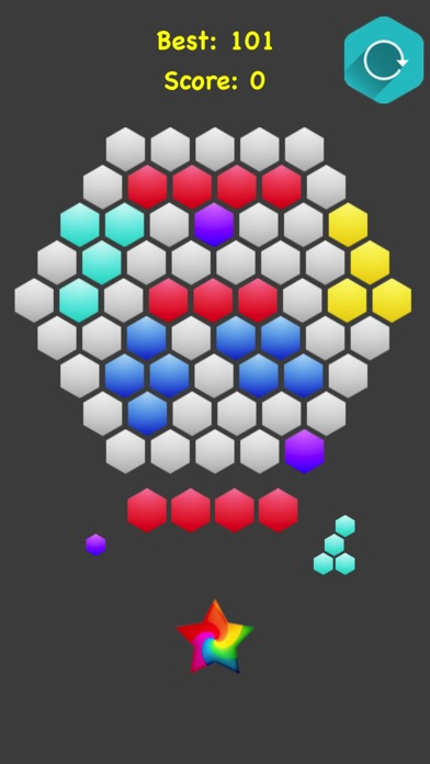 Hexagonal Merge.. screenshot 1