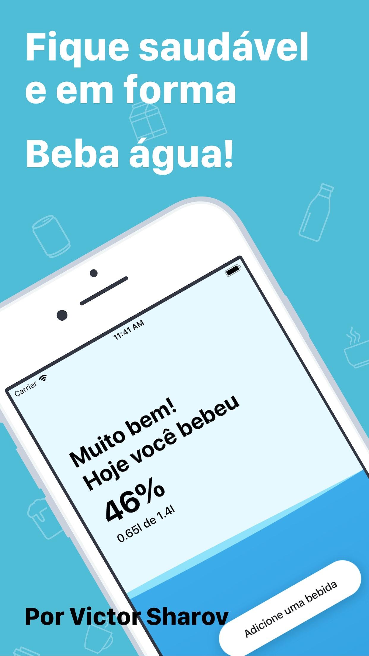 Screenshot do app Minha Beber Água Beba Lembrete