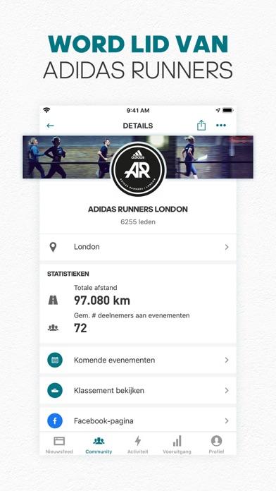 adidas Running by Runtastic iPhone app afbeelding 5
