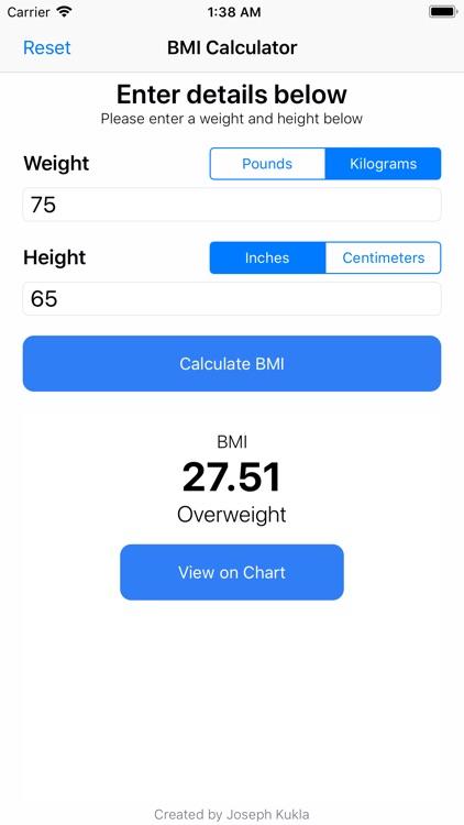 BMI Calculator++ screenshot-7