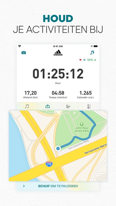 adidas Running by Runtastic iPhone app afbeelding 1