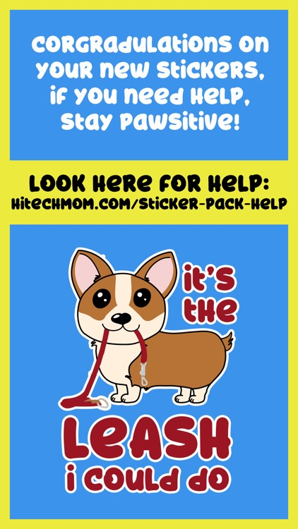 Corgi Puns - cute dog stickers screenshot-3
