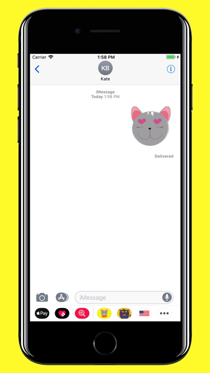 Grey Cat emojis - Smiley moji screenshot-4