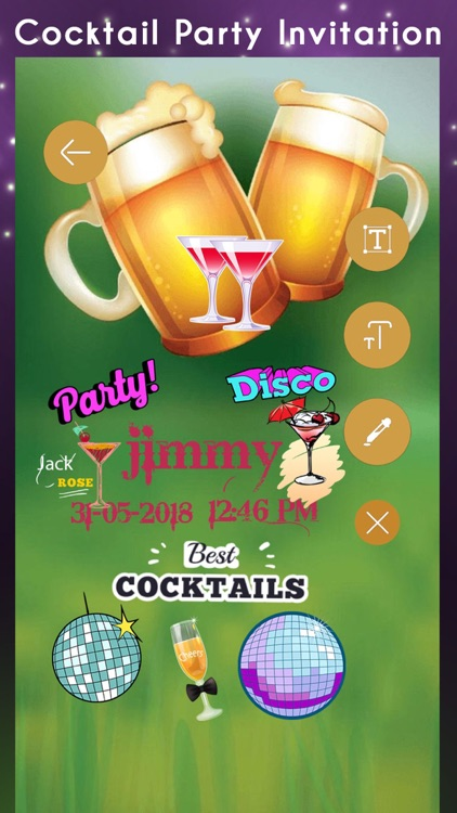 Cocktail Party Invitation Card screenshot-4