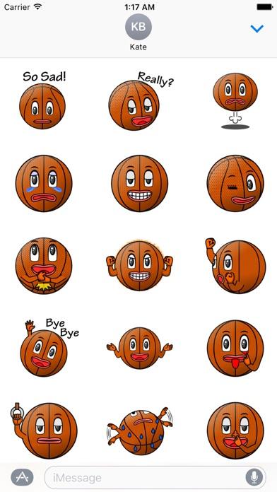 Basketball Club Emoji Sticker screenshot 2