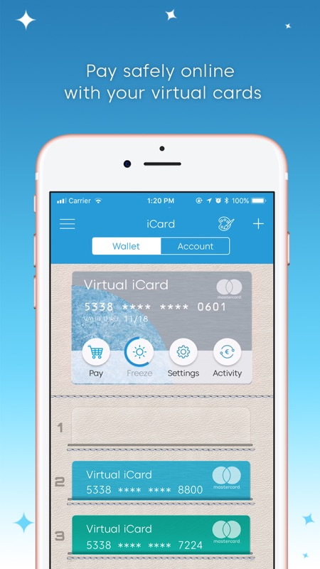 iCard: Send & Spend money - Online Game Hack and Cheat