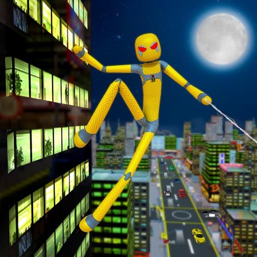 Stickman Rope Super Spider 3D Icon