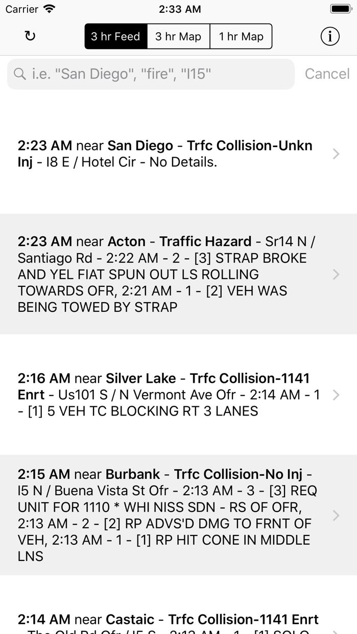 California Traffic Screenshot