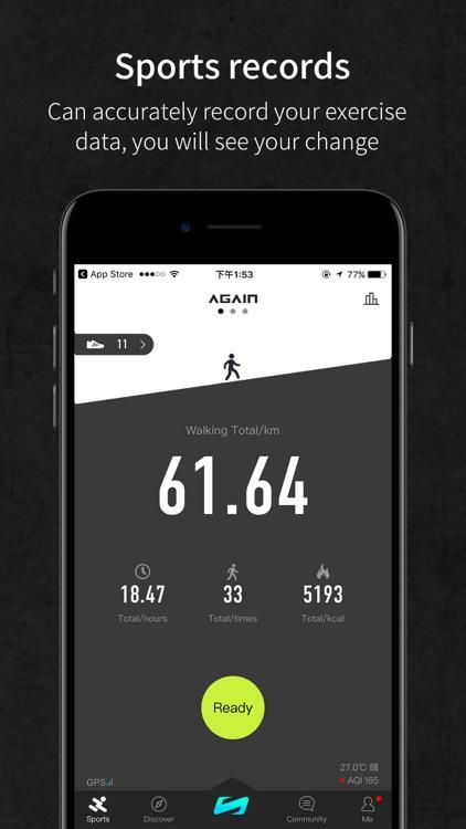 Again-Fitness social platform