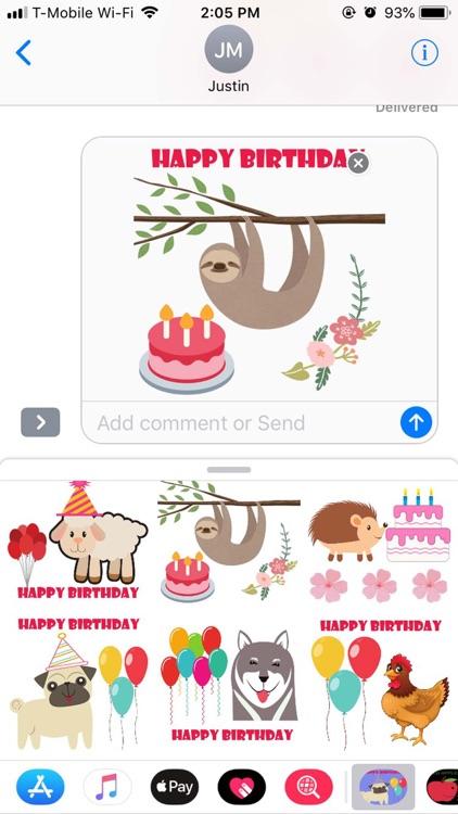 Cute Happy Birthday Sticker