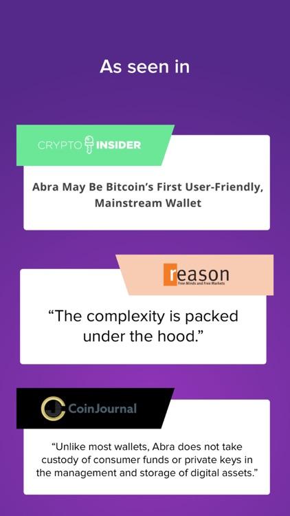 Abra: Bitcoin, Ripple, LTC screenshot-4