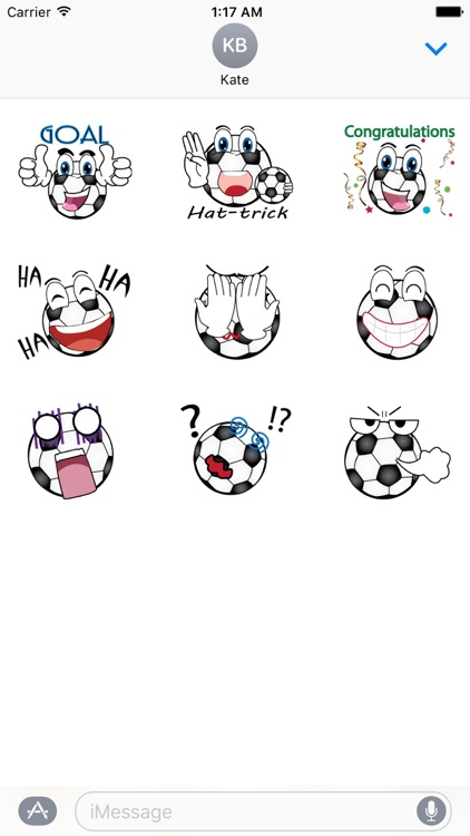 Animated Soccer Ball Sticker