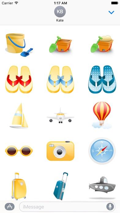 Summer And Beach Icon Sticker screenshot 3