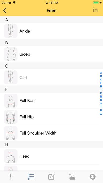 Dress Measurement Screenshot