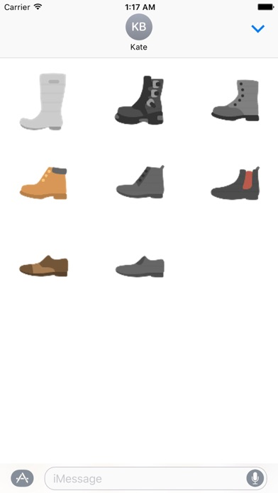 Clothes And Shoes Icon Sticker screenshot 8