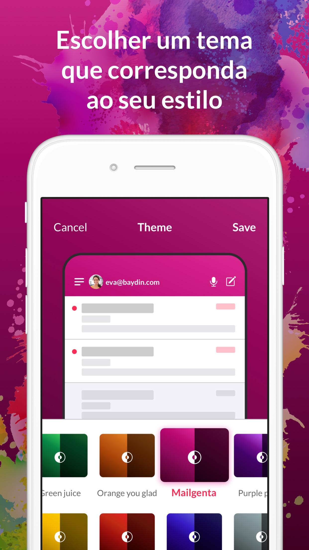 Screenshot do app Cliente de email - Boomerang