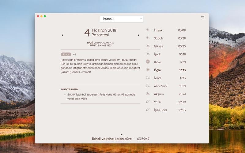 Fazilet Takvimi for Mac