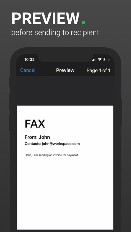 Fax App - send from Phone