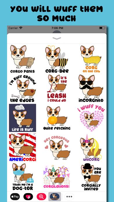 Corgi Puns - cute dog stickersのおすすめ画像3
