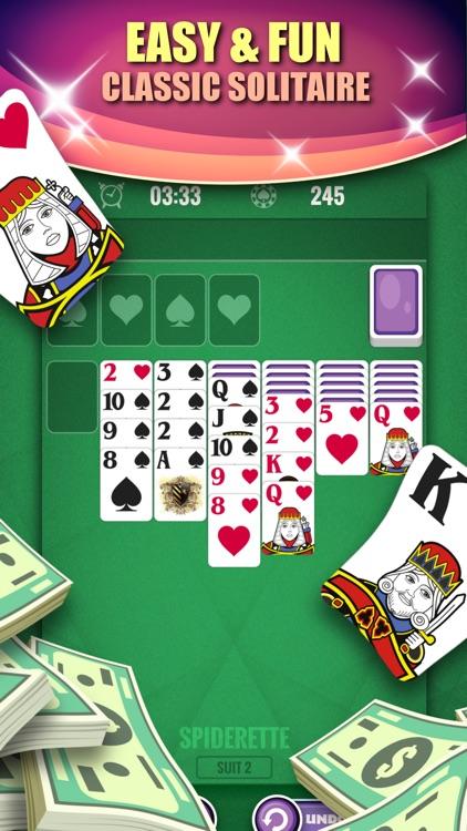 Solitaire Spiderette: Win Cash