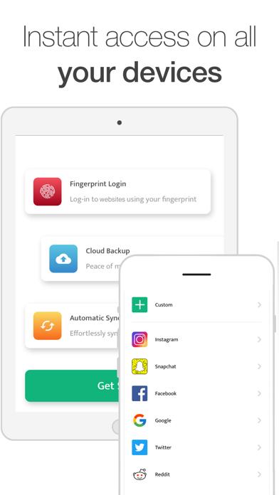 Fingerprint Login & Password Screenshot