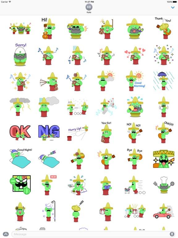 Mexico Cactus Music Band Emoji screenshot 6