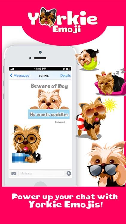 Yorkie Dog Emoji Stickers