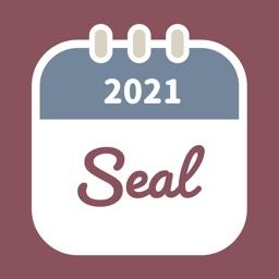 Seal  - Sticker calendar