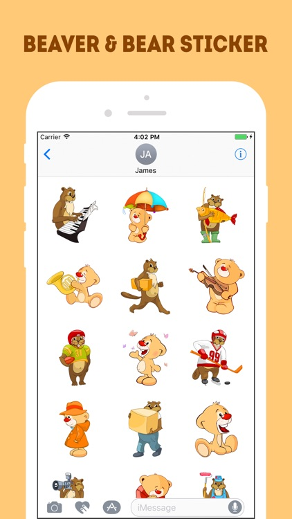 The Beaver and Bear Emojis screenshot-3