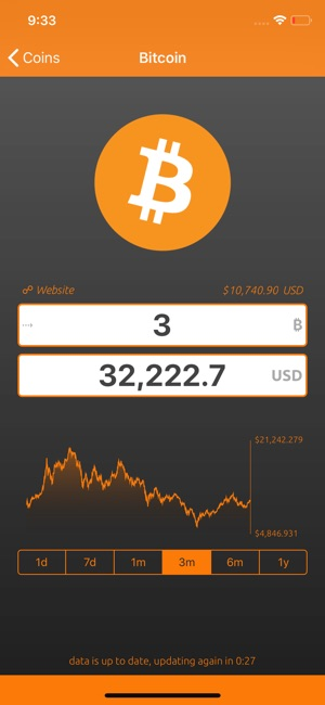 Bitcoin Convert Screenshot