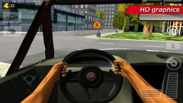 Modern Car Driving City Street 4