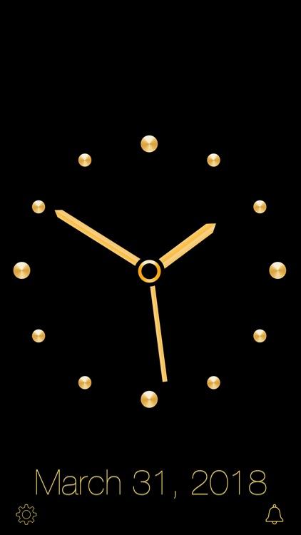 Gold Luxury Clock screenshot-5