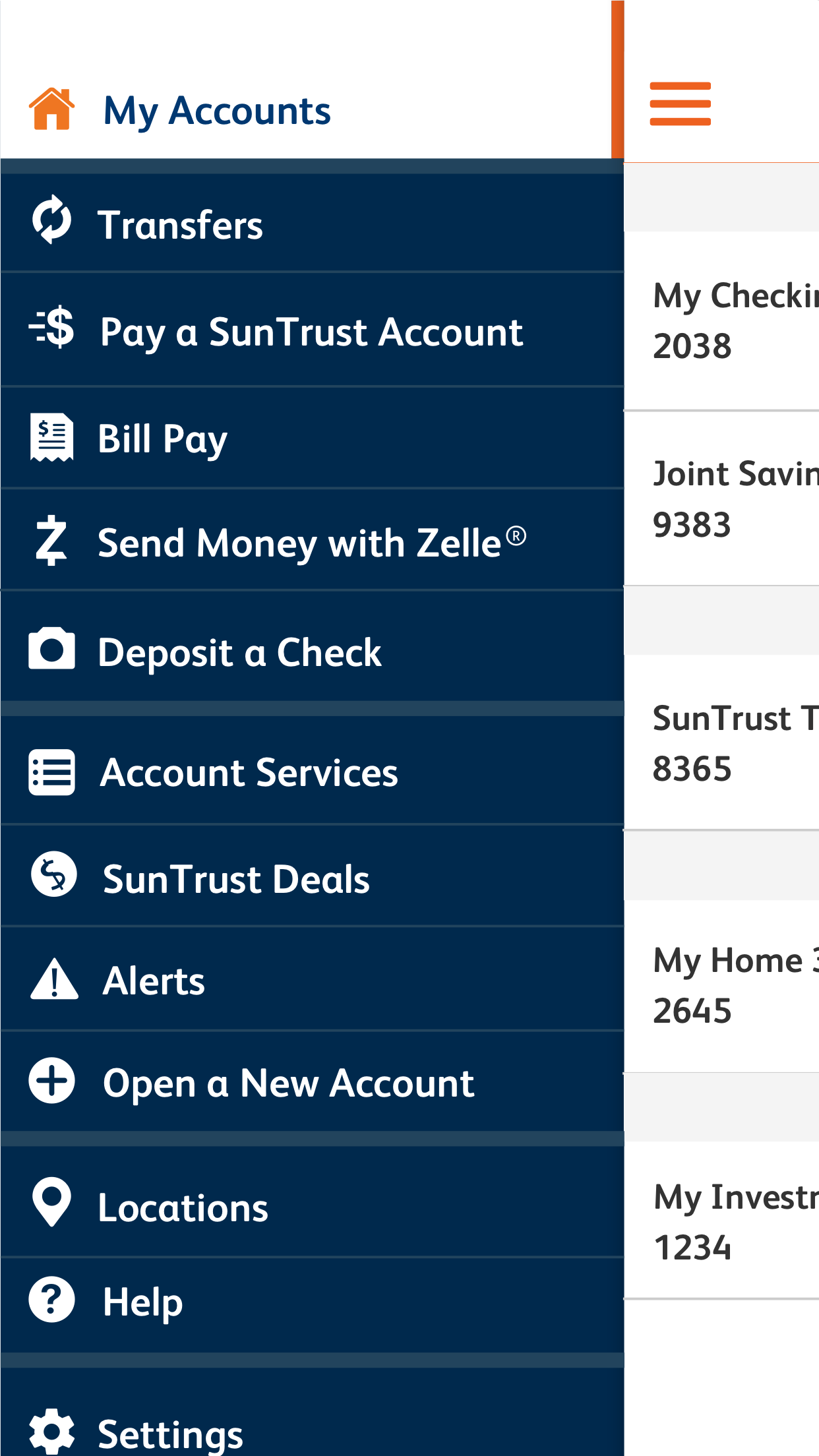SunTrust Mobile App Screenshot